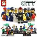 Горячие Пожарный Полиции swat пилот cleaner инженер моряк шахтер работник строительный блок совместимо с legoe игрушки города