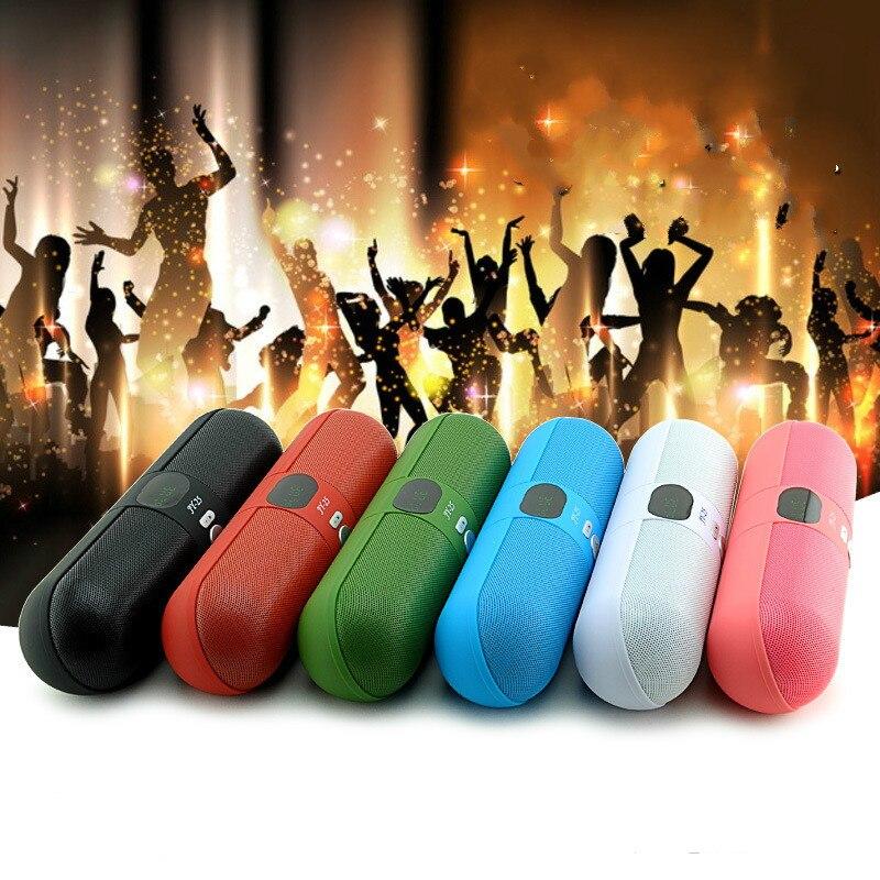 Haut-parleur sonore 3D Capsule sans fil en forme de Microphone FM radio plus fort Support TF carte U disque Mini batterie Portable en JY-25