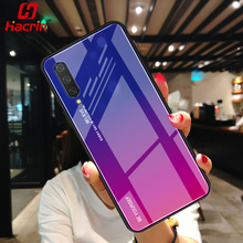 Gradient Phone Case For Xiaomi mi cc9 Luxury Tempered Glass Protective Cover Soft TPU Silicone 9 se