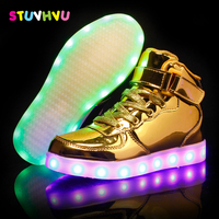 USB Illuminated Sneakers Colorful Glowing Charger Led Children Lighting Shoes Boys Girls Luminous Sneaker Kids Casual