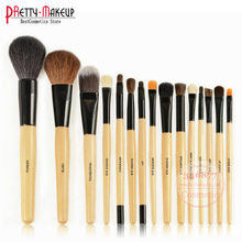 Professional 15 PCS Brand Cosmetic Facial Make up Brush Kit Wool Makeup Brushes Tools Set цены