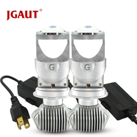 JGAUT Car lights 80W H4 LED Micro Mini Projector Lens Automoblies Bulb Conversion Kit Hi/Lo Beam Headlight 12V/24V 6000K