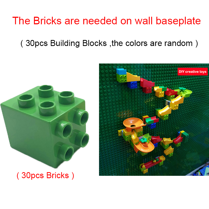 Creative Building Block Wall Base Plates Marble Race Run Construction Toys Big Size Blocks Educational Toys For Kids in Blocks from Toys Hobbies