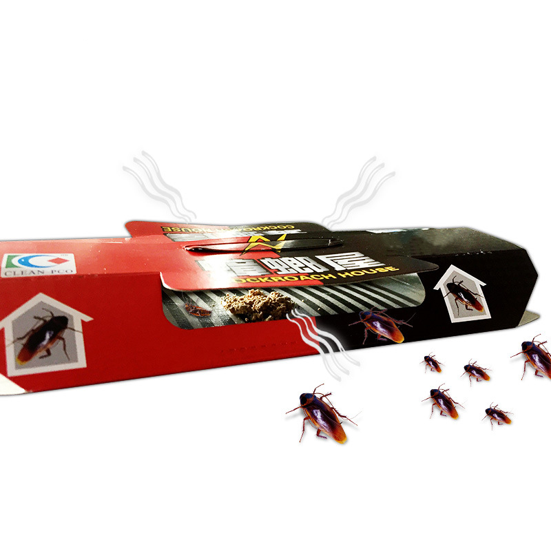 1Pcs  Cockroach House Cockroach Trap Repellent Killing Bait Strong Sticky Catcher Traps Insect Pest Repeller Eco- Friendly