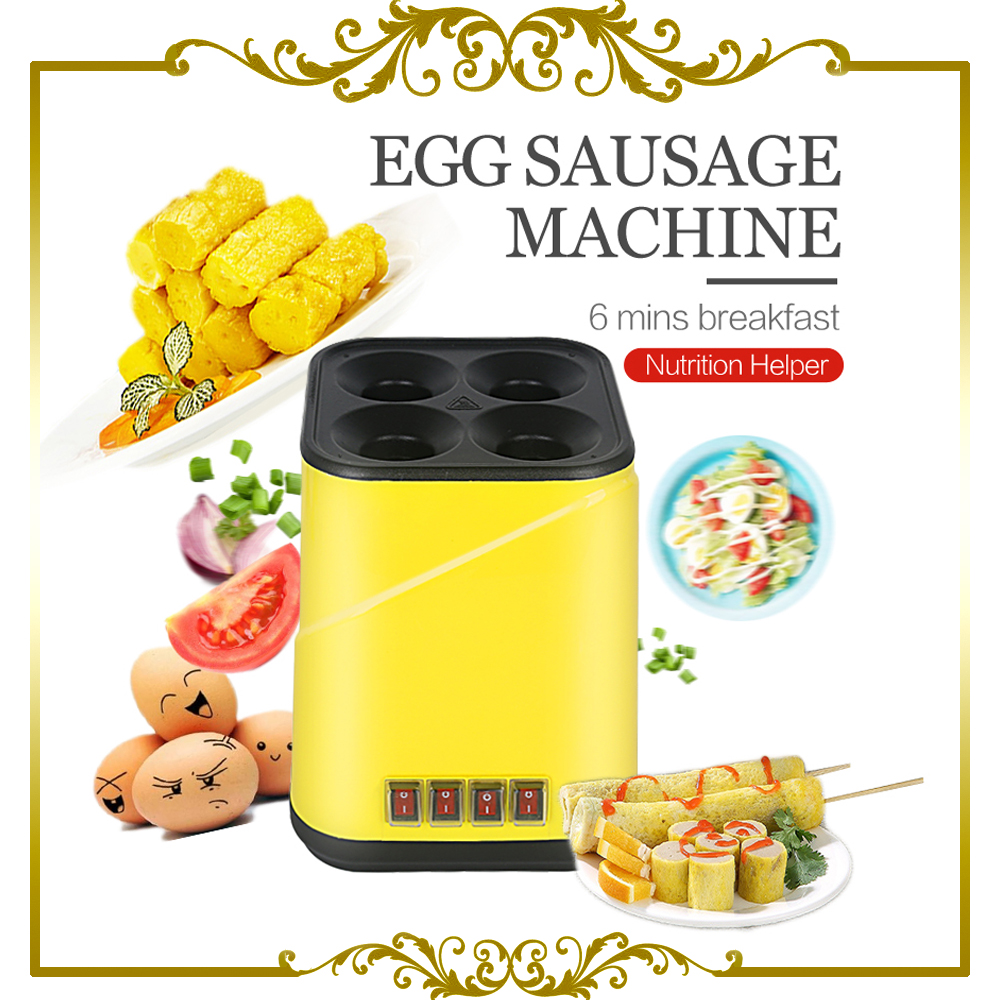 egg roll maker cooking Tool Egg Cup Omelette on 4 stick kitchen Machine 2017 lpg 10 tubes egg sausage maker korean roll maker barbecue pill maker eggs roll sausage machine