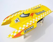 Fiber Glass E22 90A ESC 2550KV Electric Brushless RC Boat Model PNP Yellow Catamaran Toy Boats