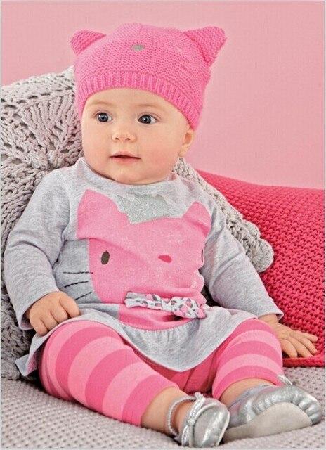 f5c5ae59a3998 2019 ropa de bebé Otoño Invierno vestido de bebé de dibujos animados bebé  niñas camisa de