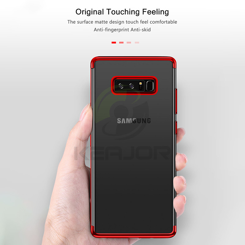 Keajor Case For Samsung Galaxy S10 Plus Case Plating Transparent Bumper Soft Silicone Cover For Samsung Galaxy S10 S10e Funda in Fitted Cases from Cellphones Telecommunications