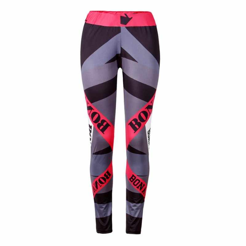 2017 Sexy kobiet legginsy treningowe dla biegaczy Fitness legging wysokiej talii elastyczne legginsy sportowe legginsy Jegging 6079