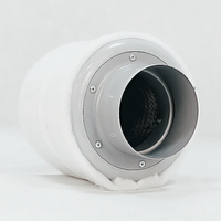 4 Inch Carbon Filter Air Purifier with Pre filter for Inline Fan Hydroponics Green Indoor Gardening Grow Tent Ventilation