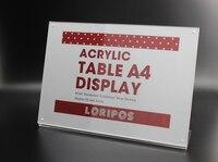 29 7 21cm A4 Transverse Acrylic Magnetic Label Holder Stand Poster Banner Menu List Frame Advertising