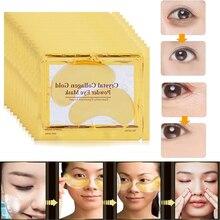 24K Gold Eye Mask Collagen Crystal Serum Patches Anti Wrinkle Puffiness Dark Circle Anti-aging Eyes Skin Care Ageless 5pcs