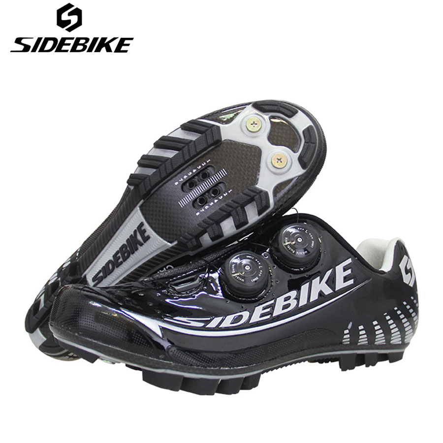 SIDEBIKE Cycling Shoes Carbon Black Men Elactic Band Chaussure Velo Route Carbon Fiber Road Mountain Bike Shoes zapatillas MTB sidebike cycling shoes carbon fiber racing road bike sneakers zapatillas ciclismo chaussure velo self locking fietsschoenen