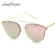 2a36790a1 2017 Hot Cat Eye Mirror Sunglasses Women Fashion Brand Designer Stylish  Flat Lens Metal Frame Ladies Sun glasses Female Points