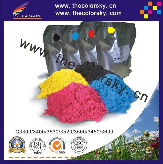 (TPOHM-C3300) laser color toner powder for OKIDATA C 3300 3400 3530 3520 3500 3450 3600 C3600 1kg/bag/color Free FedEx