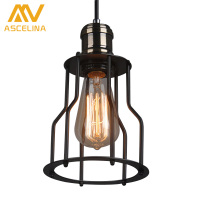Simple American Country Retro Retro Iron Chandelier Industrial Wind Chandelier Dining Room Fixtures Black Copper Chandelier