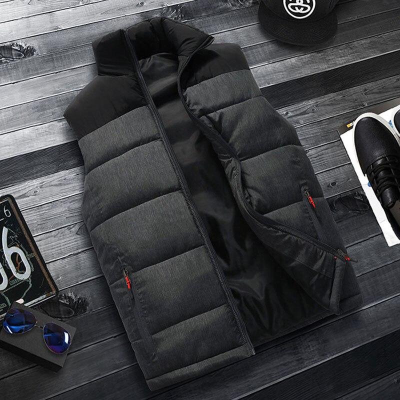 Image 2 - FALIZA New Mens Jackets Sleeveless Vest Winter Mens Warm Down Vest Homme Casual Thicken Waistcoat Chalecos Para Hombre 5XL MJ MVests & Waistcoats   -
