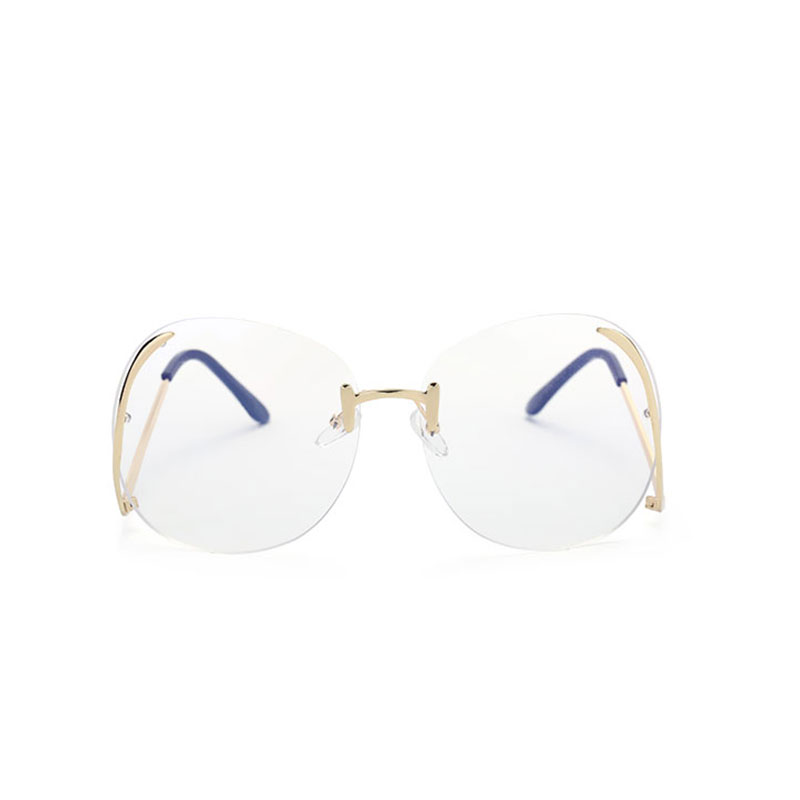 601b708f768 Unique Hot Sell transparent Eyeglasses Women Optics Glasses Frame Oversized  Clear Lens Big Size Rimless myopia Sunglasses Female-in Sunglasses from  Apparel ...