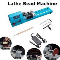 150 W Elektrische Holz Mini Drehmaschine Perlen Schleifen Polierer und Polieren Perlen Maschine DIY Holzbearbeitung Buddha Perle Drehmaschine Maschinen -