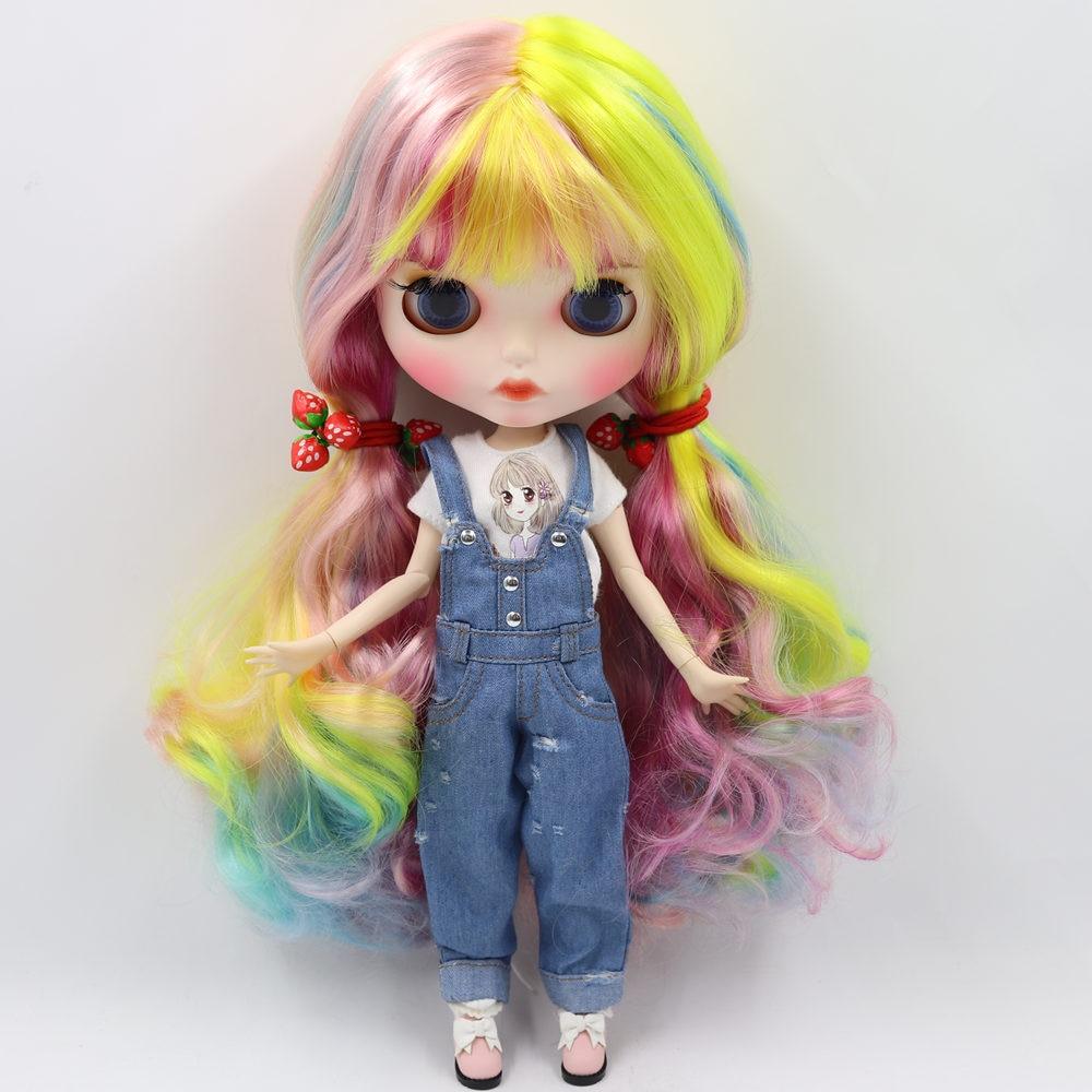 ICY Nude Blyth Doll nr 1010/1019/1049/6227/4268/3208/1010 kolorowe włosy rzeźbione usta matowy dostosowane twarzy wspólne ciało 1/6bjd w Lalki od Zabawki i hobby na  Grupa 2