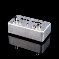 NEW ABY Selector Combine Pedal Guitar Switch Box TRUE BYPASS Amp Guitarra Pedal AB Y