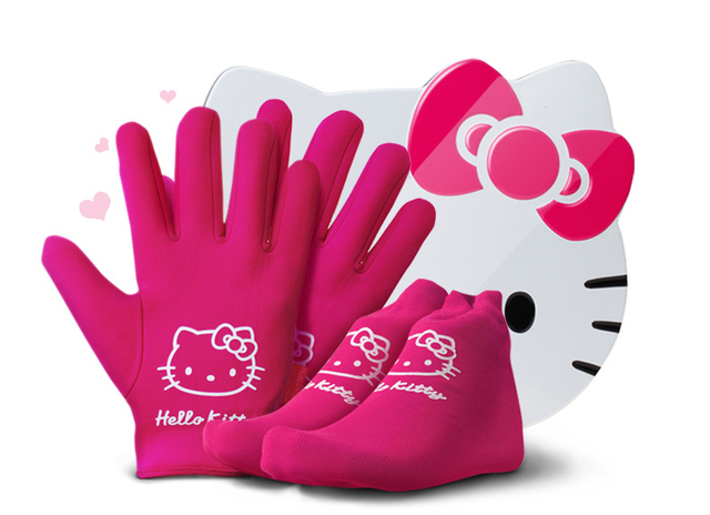 hello kitty spa gloves and socks whitening hand and feet exfoliating