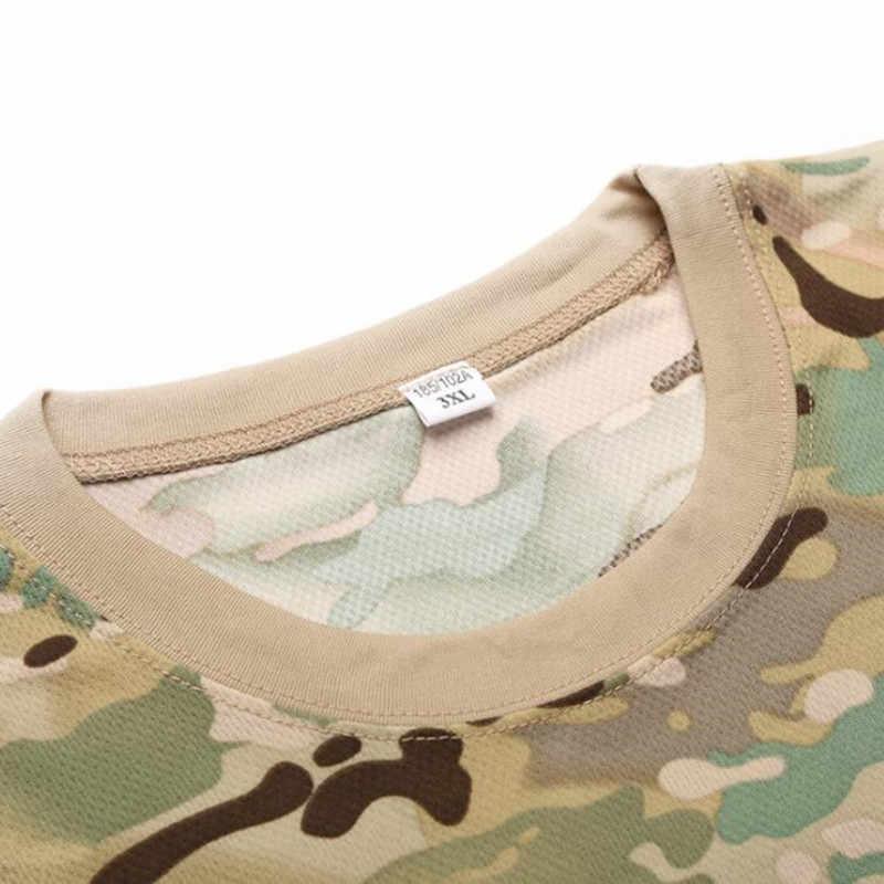 Gear Camouflage Army T-Shirt Gli Uomini RU Soldati Combattimento Tattico T Camicia di Forza Militare Multicam Camo T Shirt A Manica Lunga