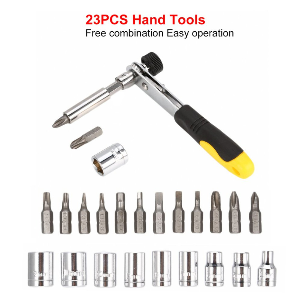 Hand Tools She.k 23pcs Security Torx Hex Star Bit Set Magnetic Holder Screwdriver Bits Tamper Ratchet Wrench Hand Tool Combination Quality First