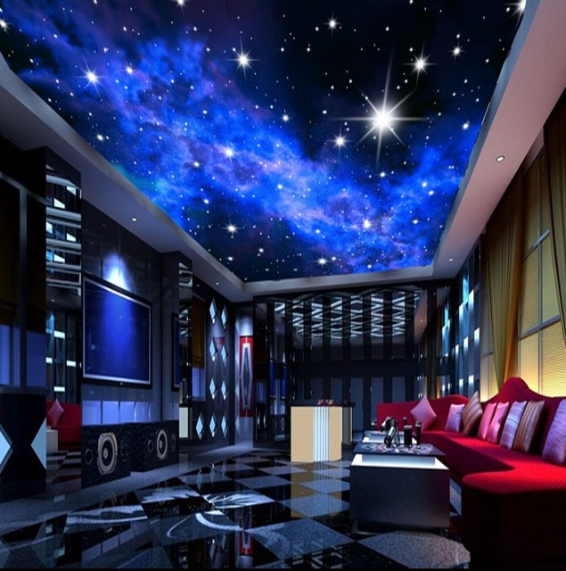 Aliexpress.com : Buy Murals 3D Star Nebula Night Sky Wall Painting ...