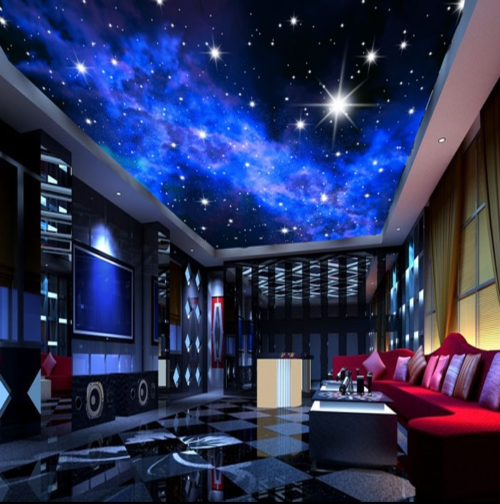 Image gallery nebula themed bedroom for Ceiling mural in a smoker s lounge