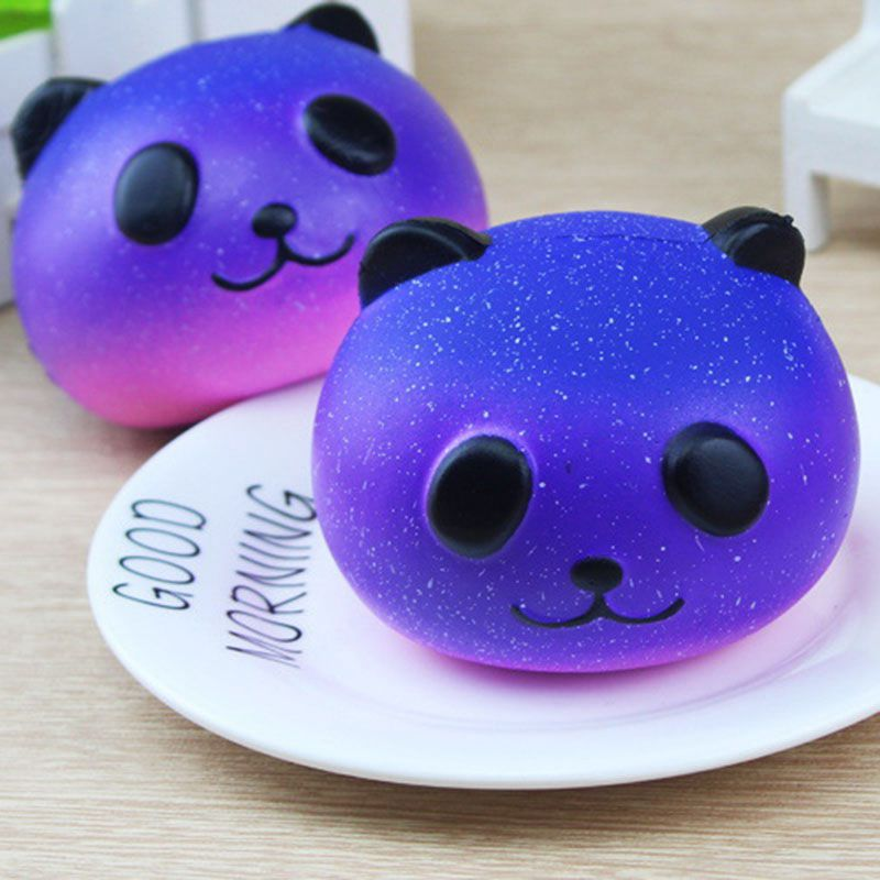 Anti-stress Cute Squishy Toy Galaxy Panda Squishy Slow Rising Animals Squishi Phone Strap Soft Funny Toys For Kids