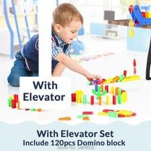 120 шт. набор домино с лифтом отложным воротником кактус Красочный домино блок Стикеры DIY Intellgence Пластик игрушки подарки на день рождения для детей