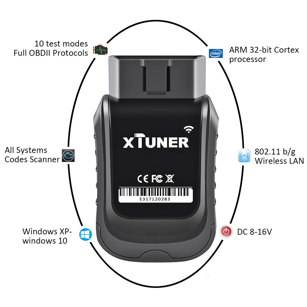 Image 2 - XTUNER E3 V10.7 Scanner OBD2 WiFi Full Systems Diagnostic Tool Auto Scanner for Diag/EXP/Main Service Battery DPF Reset-in Engine Analyzer from Automobiles & Motorcycles on