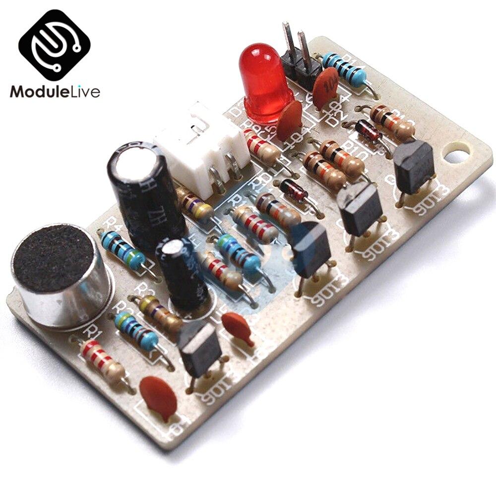 Icsk050a Stable Dc 5v Pcb Diy Kit Sound Module Sensor Clap Switch Suite Electronic