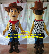Knappe Roze Woody Toy Story Cowboy Mascotte Kostuum Cartoon Karakter Met Rode Sjaal Wit Vest Geel Shirt No.6638 Fs(China)