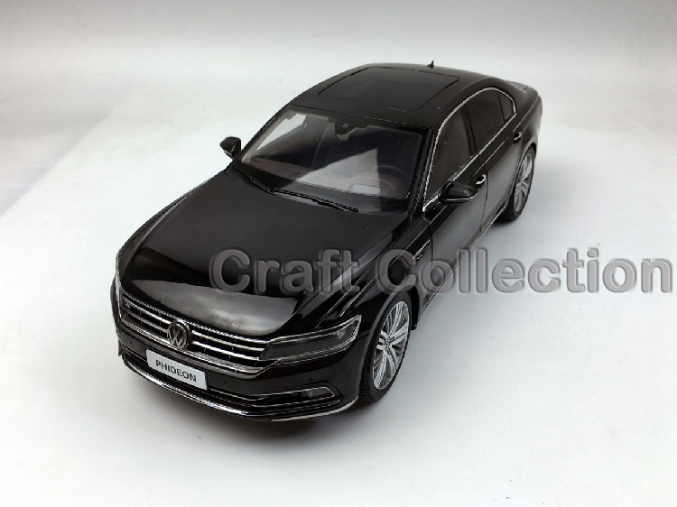 * Black 1:18 Volkswagen VW Phideon 2016 Diecast Model Car Metal Sedan Modell Autos Festival Gifts Mini Vehicle
