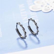 Корейские стильные новые модные серьги из стерлингового серебра