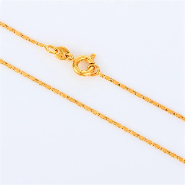 New Design Kids Children Jewelry 18K Yellow Gold Plated Thin Tile ...