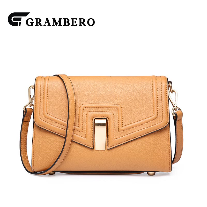 2018 New Style Shoulder Bag Genuine Leather Top Leather Cover Flap Women Party Shopping Fashion Crossbody Messenger Bag for Gift 2018 fashion genuine leather mini women shoulder bag new arrival crossbody flap bag solid leather textures cover ladies handbag