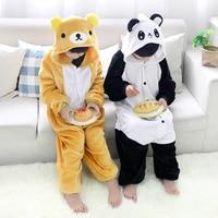 Winter Panda Relax Bear Onesie Kids Unisex Animal Cartoon Kerst Pyjama Goedkope Kostuums Nachtkleding