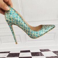 Women's Shoes High Heels High heeled shoes High heeled blue shoes 12cm / 10cm / 8cm Sexy heel size 33 34