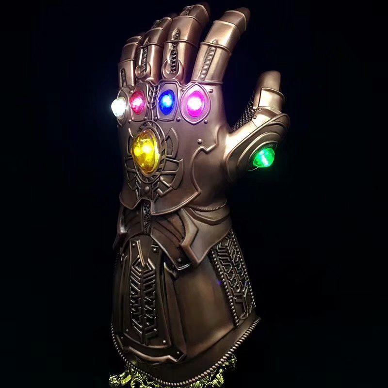 Thanos LED Light Gauntlet Gloves Cosplay Costume Prop From Avengers Infinity War PVC Material One Size Fit Most Adult in Boys Costume Accessories from Novelty Special Use