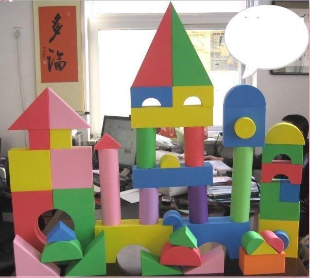 007-Soft Play block Toy equipment, EVA sponge toy,foam mat,48pcs Big size,BLOCKS