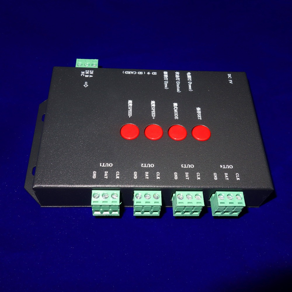 T-4000 LED SD card led pixel controller;can max control 4096 pixels