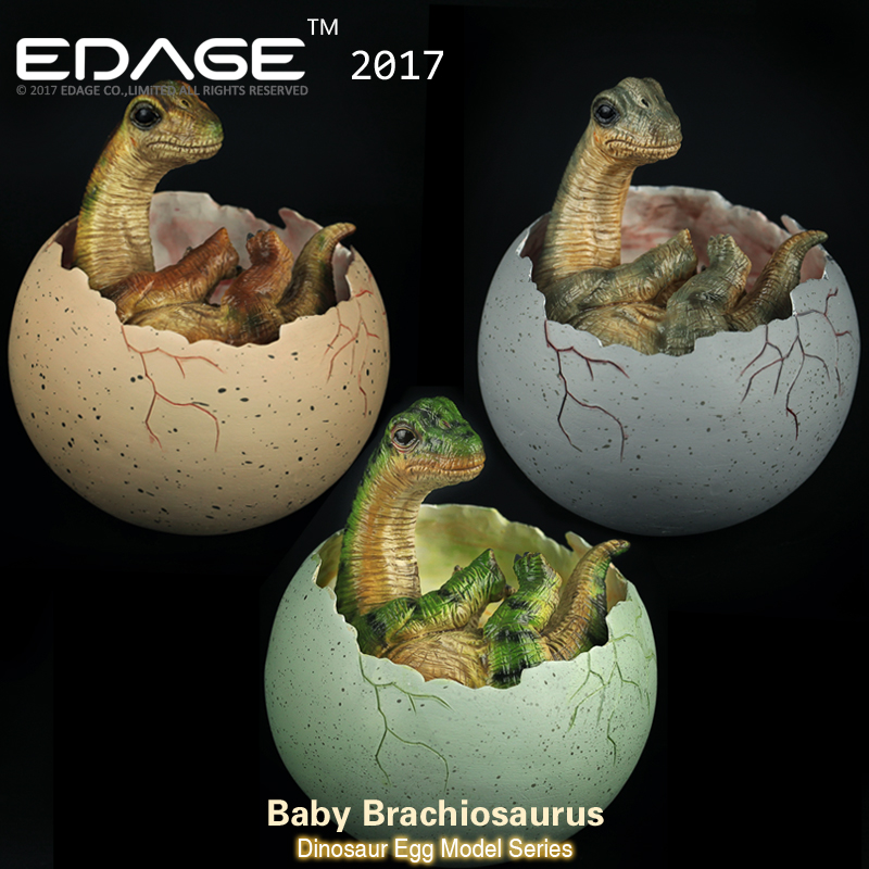 2018 CE Authentication EDAGE Baby Brachiosaurus Jurassic World Model Dragon Of Dinosaur Egg Hatching Ancient Adult