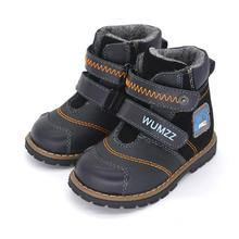 New Boys Fashion Boots Winter Children Waterproof Casual Shoes Genuine Leather Toddler Little Baby Kids Fur Warm Western Boots