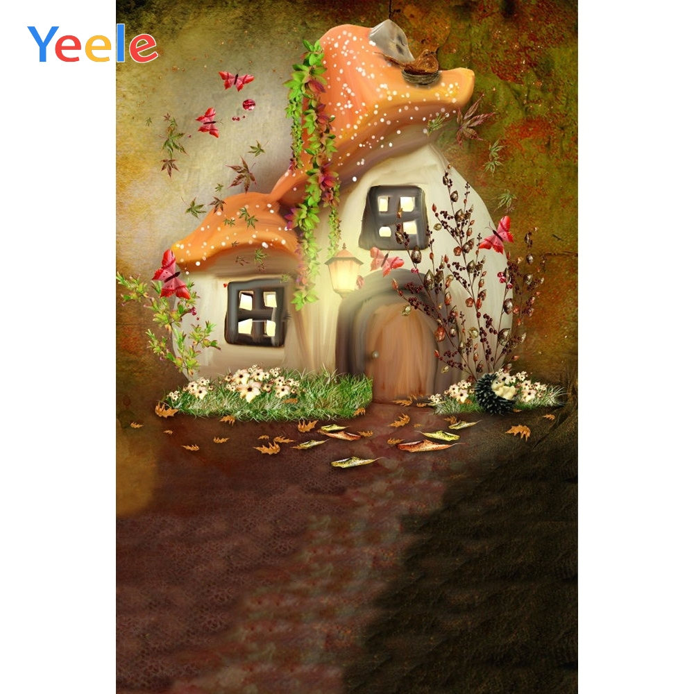 Yeele Dreamy Jungle Mushroom House Photography Backdrop Children Baby Birthday Party Photographic Background For Photo Studio in Background from Consumer Electronics