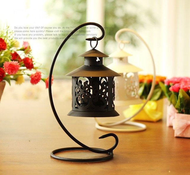 HOT SALE!!! Free Shipping retail and wholesale European style iron birdcage candleholder with white/ black color