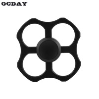 OCDAY Fidget Spinner Hand Spinner 4 Holes Metal Bearing Anti Stress Relief Fingertip Gyro Autism ADHD