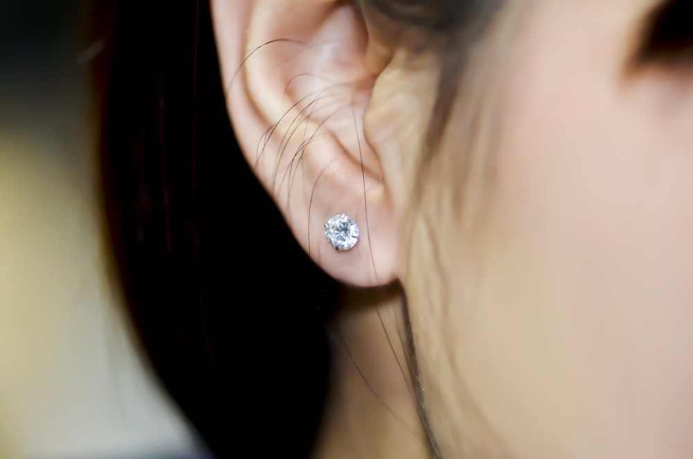 Kristall Zirkon Echt 925 Sterling Silber Ohrringe Kanal Zirkonia Silber Stud Ohrringe für Frauen Sterling Silber Schmuck